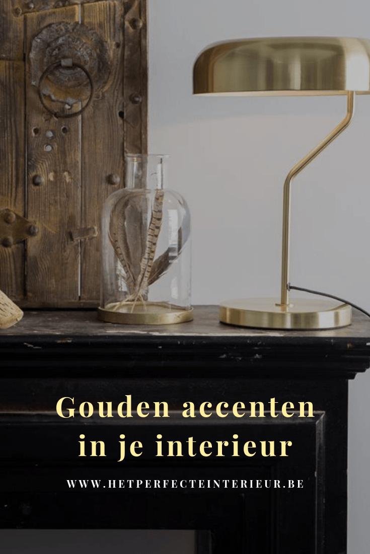 Gouden interieur met de juiste accenten