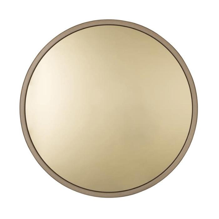 Ronde spiegel in goud