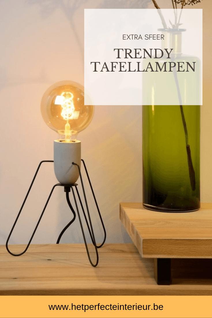 Trendy tafellampen