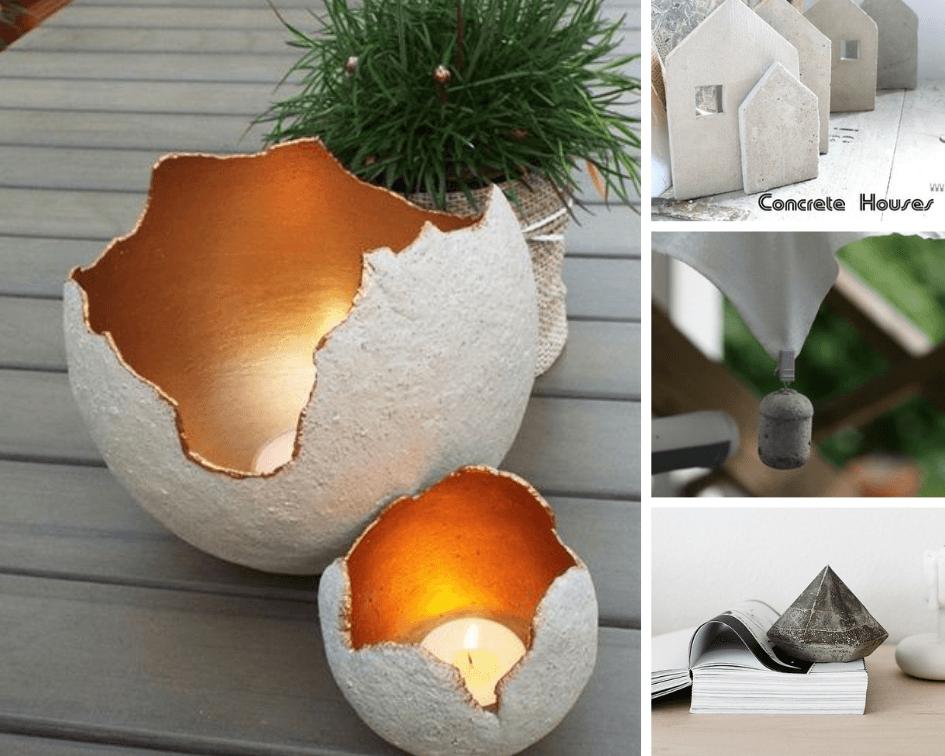 7 Creatieve interieur ideeën met beton.