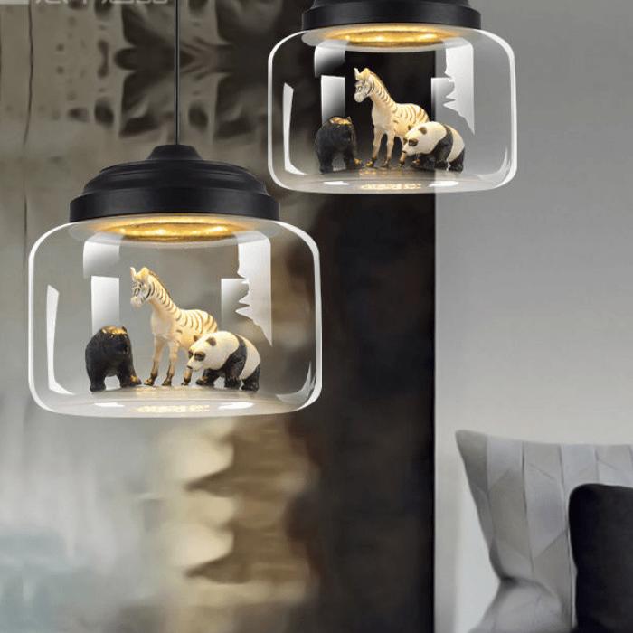 Hanglamp met jungle dieren