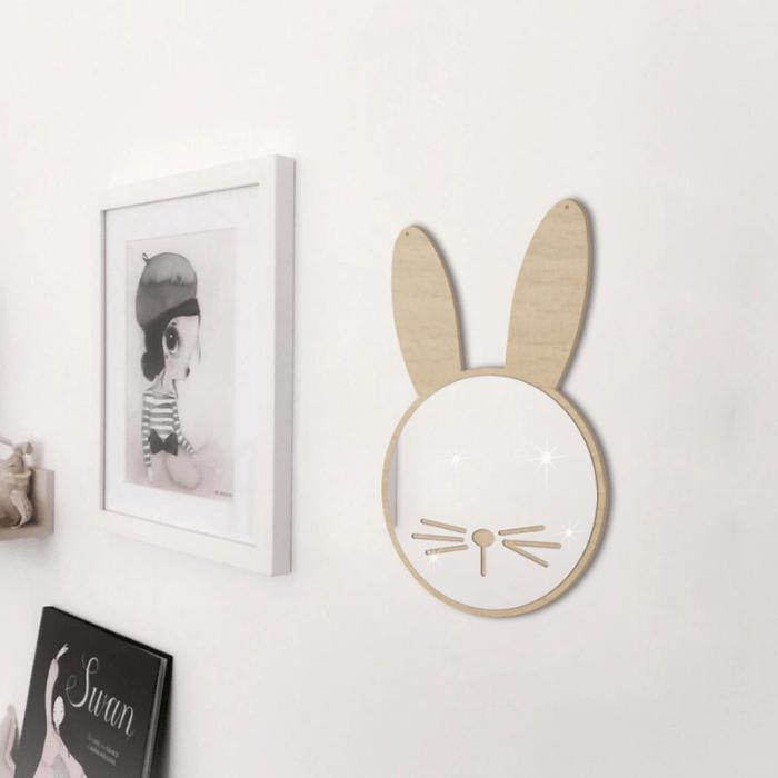 Wandspiegel konijn