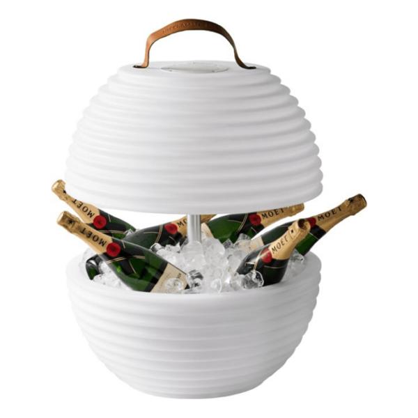 multicolor wijnkoeler en luidspreker The Bowl
