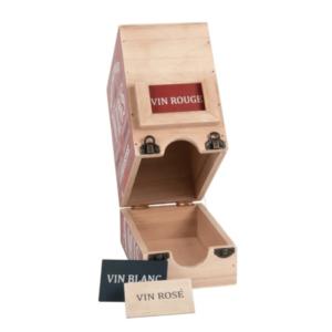 wijndooshouder in hout en metaal Bistrot du Coin