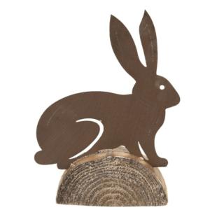 decoratie konijn in metaal