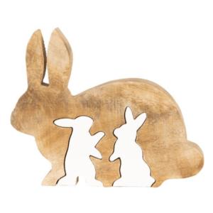 decoratie konijn in hout