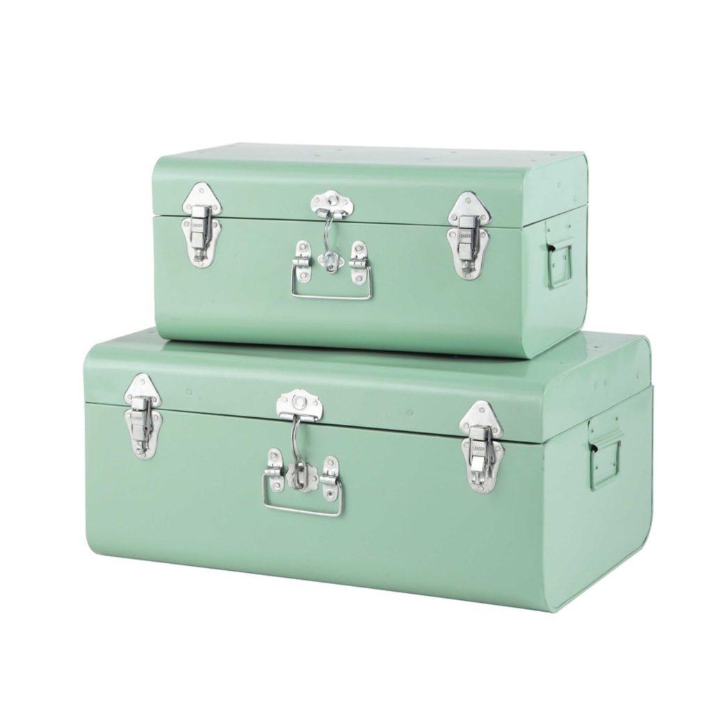 je-spullen-opbergen-in-stijl-set-twee-metalen-opbergkoffers-groen