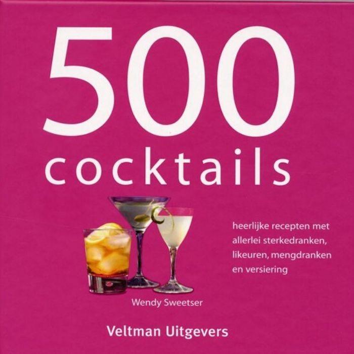 boek 500 cocktails om je cocktails en mocktails zelf te maken