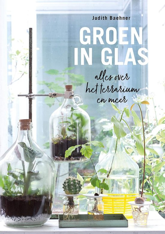 boek groen in glas met alles over een terrarium en meer