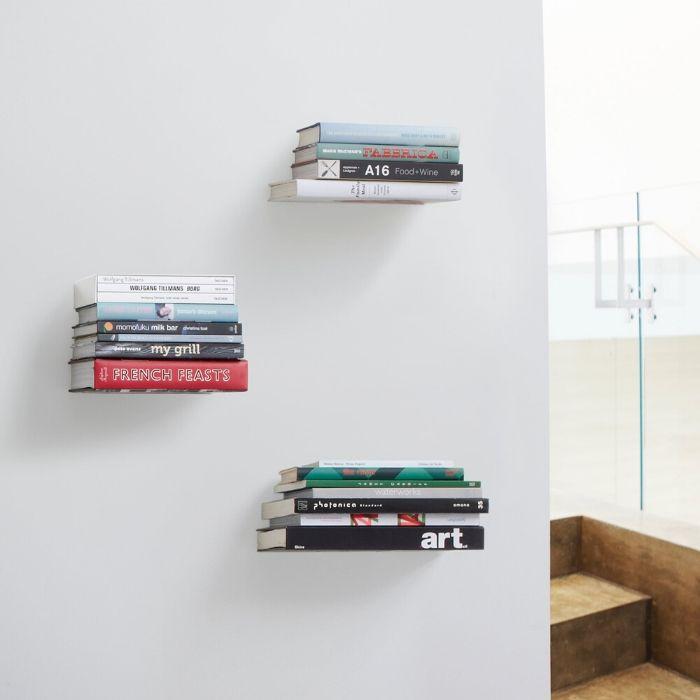 umbra zwevende onzichtbare boekenplank boekensteunen