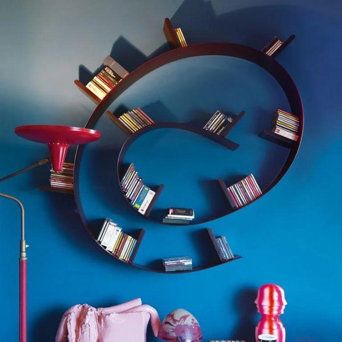 Kartell bookworm zwart design voor de boekenwurm