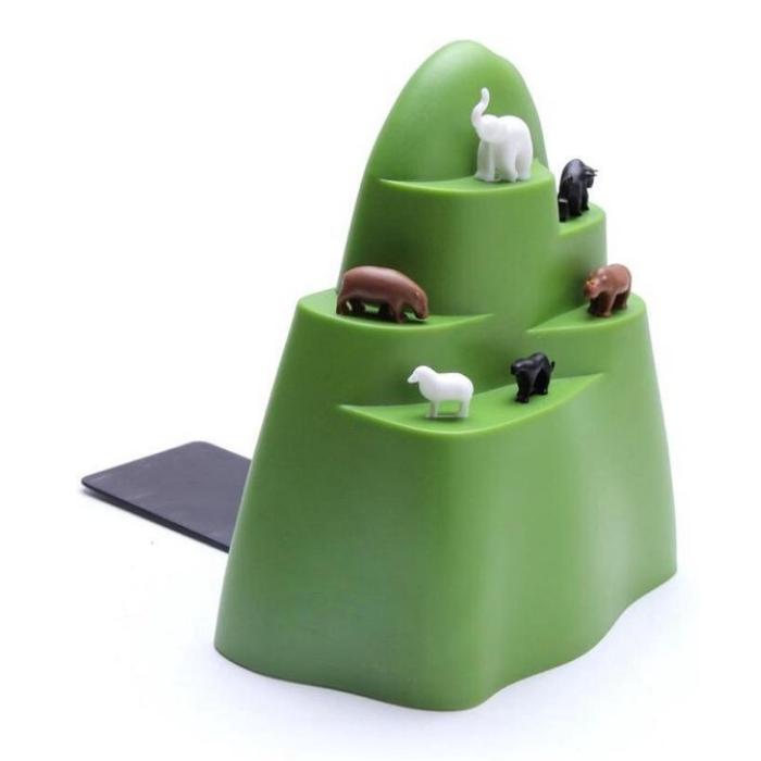 boekensteun groene ijsberg met dieren