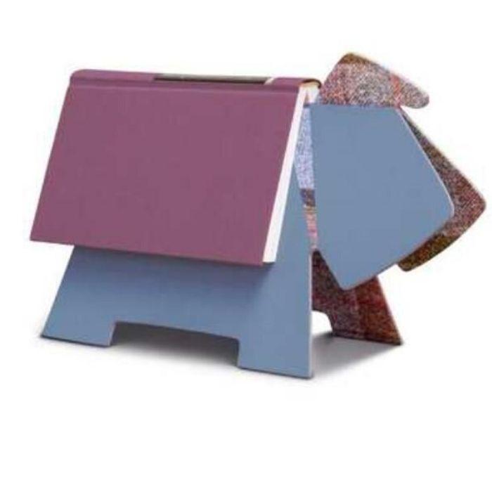 boekenhouder boekensteun Agora blauw hond