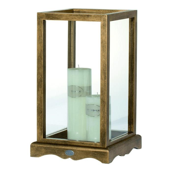 lantaarn in goud met glas