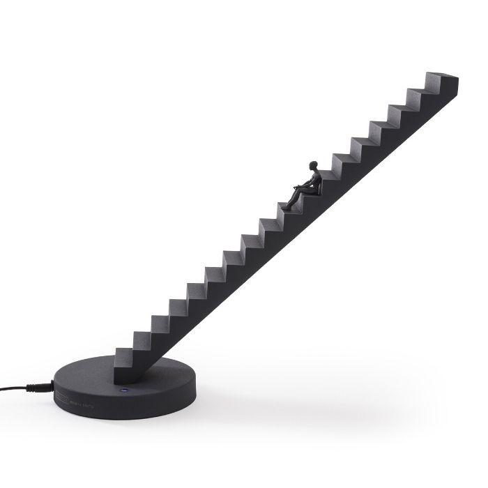 tafellamp zwart trap seletti als leeslamp voor de boekenworm