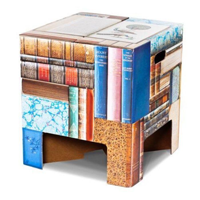 zitkruk boekenprint karton voor de boekenworm