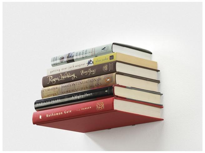 zwevende onzichtbare boekenplank